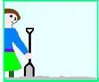 Girl with shovel Image